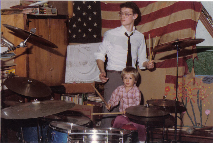 Dave (age 3) w/his Uncle Fred
